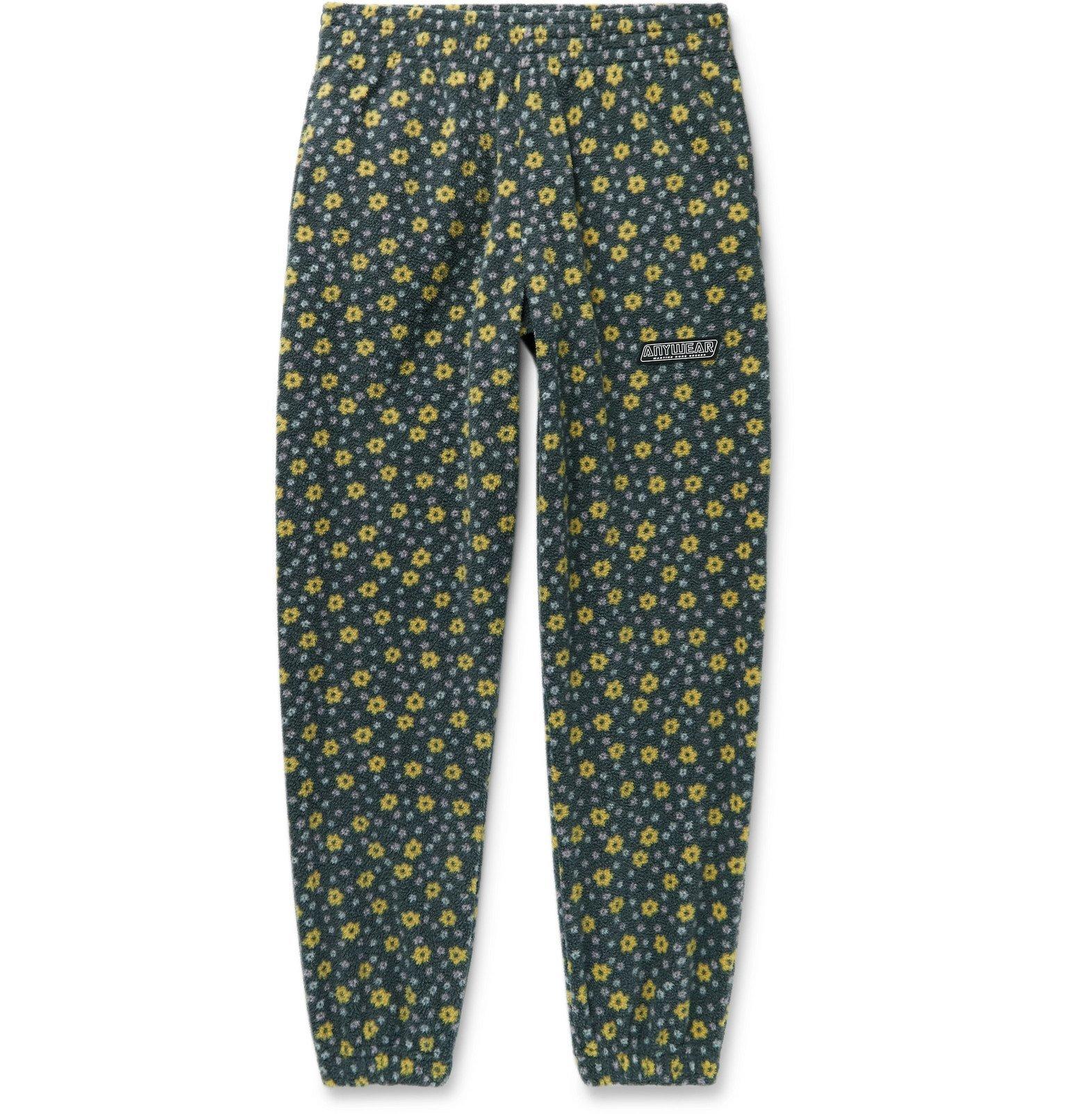 Photo: Martine Rose - Slim-Fit Tapered Printed Fleece Track Pants - Black