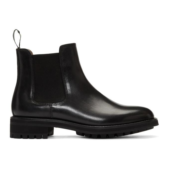 Photo: Polo Ralph Lauren Black Bryson Chelsea Boots