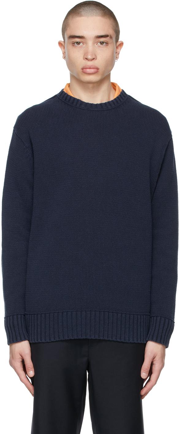Photo: Acne Studios Navy Knit Sweater
