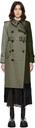 Sacai Wool & Gabardine Trench Coat