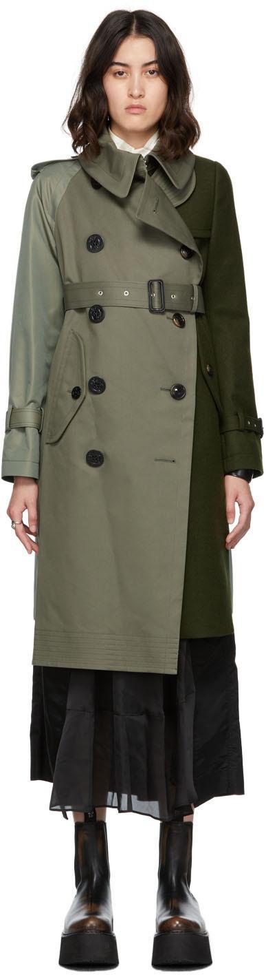 Photo: Sacai Wool & Gabardine Trench Coat
